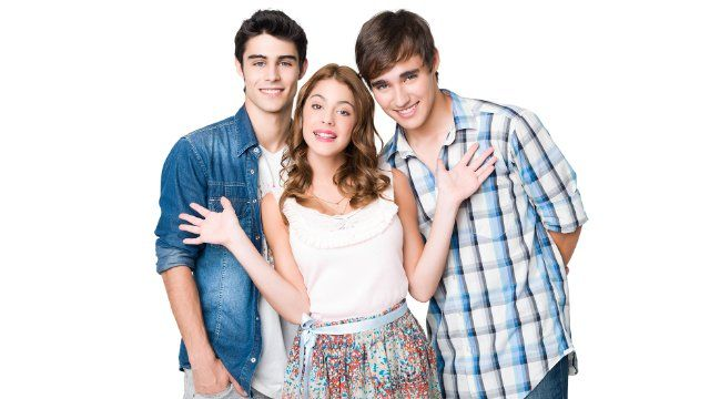 6baf445c9e22 Pablo Espinosa, Jorge Blanco, and Martina Stoessel in Violetta (2012) | I love  violetta in 2019 | School bags for kids, Kids girls, Disney channel