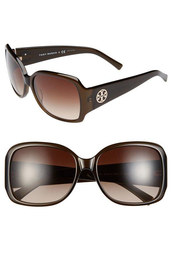 Loving these oversized Tory Burch sunglasses