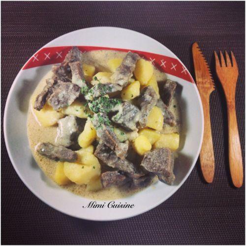 Boeuf et pommes de terre à la crème #Cookeo - Mimi Cuisine