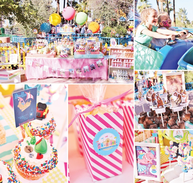 Vintage disneyland amusement park party for Amusement park decoration ideas
