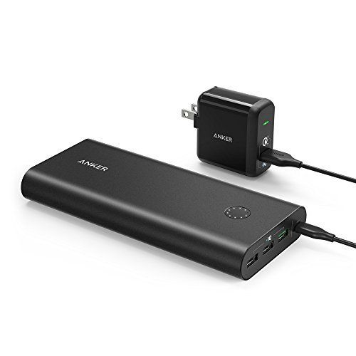 Anker PowerCore+ 26800, Premium Portable Charger, High Capacity 26800mAh External Battery with Qualcomm Quick Charge 3.0 (in- and output), Includes PowerPort+ 1 Wall Charger - PowerCore+ 26800 The Premium Ultra-High-Capacity Power Bank From ANKER, America's Leading USB Charging Brand • Faster and safer charging with our advanced technology • 20 million+ happy users and counting Qualcomm Quick Charge Using Qualcomm's advanced Quick Charge 3.0 technology, t...