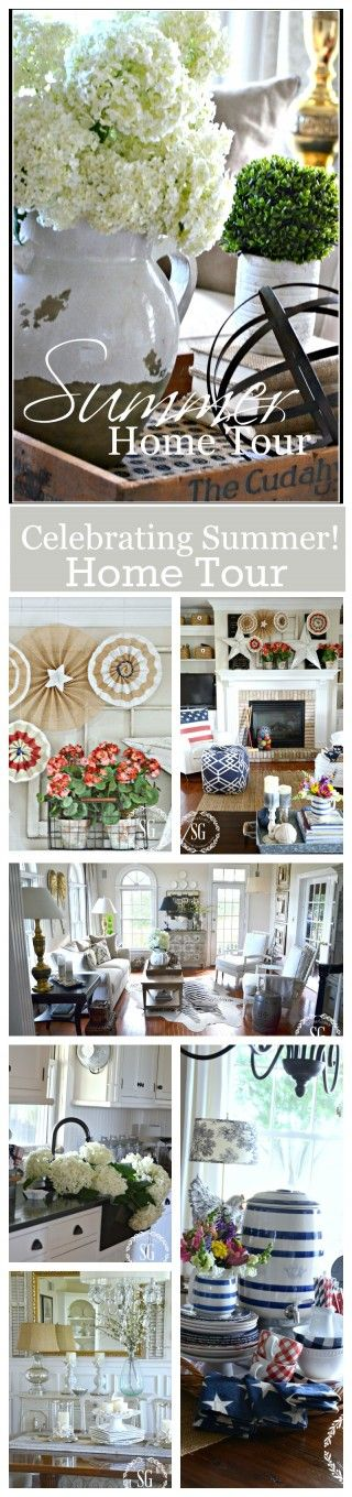 SUMMER HOME TOUR Lots of ideas for summer decorating!