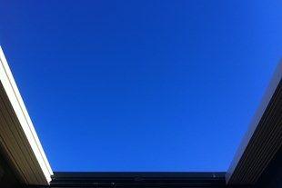 Concertina Louvres Exposing the Sky