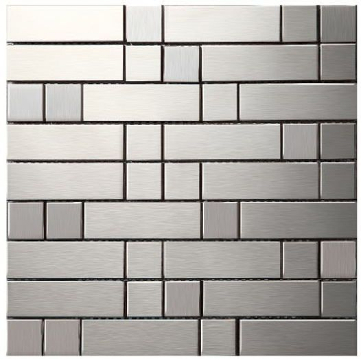 metallic wall tiles kitchen metal mosaic stainless steel tile kitchen backsplash 7479