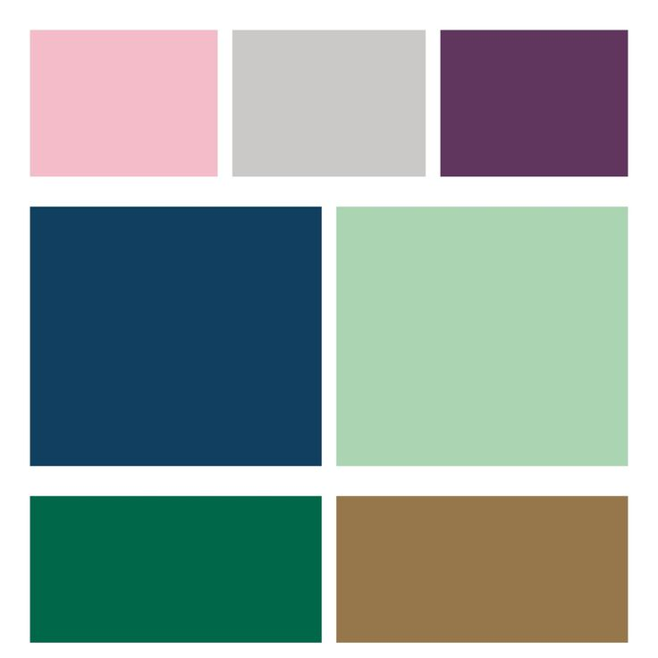 Our Living / Dining / soon to be Nursery / Bed room color palate / scheme.  Accents: pink if its a girl, grey if its a boy, and purple because I like purple. Primary room colors: Navy and mint. + our existing green carpet and dark honey wood paneling.