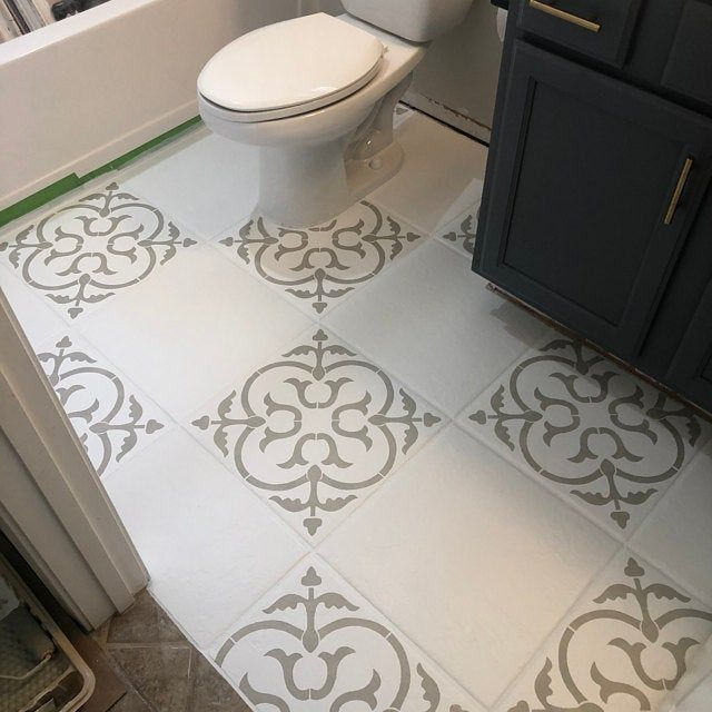 Scandi Tile Stencils 12x12 16x16 18x18 Floor Stencil Tile Etsy In 2020 Tile Stencil Floor Stencils Patterns Stenciled Floor
