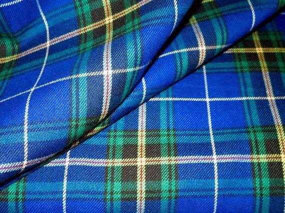 Nova Scotia Plaid Fabric by YardBlue Black Plaid by SOHOSKIRTS
