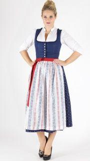 13206 Wenger Dirndl Emma (89) 80er Gr 36 marine weiß