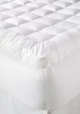 home accents cuddlebed 20 mattress pad white queen
