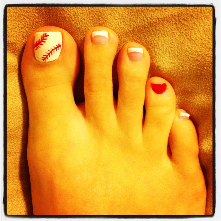 Tis the season for baseball nails!!! So proud of them. ⚾