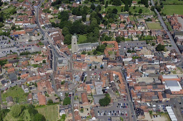 Fakenham in Norfolk - aerial view   by John D F
