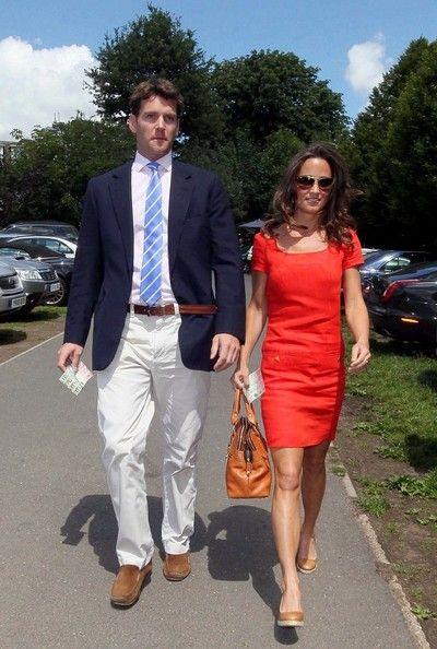 Pippa Middleton Photos Photos - Pippa Middleton and boyfriend Alex Loudon arrive at Wimbledon to watch the tennis. - Pippa Middleton and Alex Loudon at Wimbledon 3