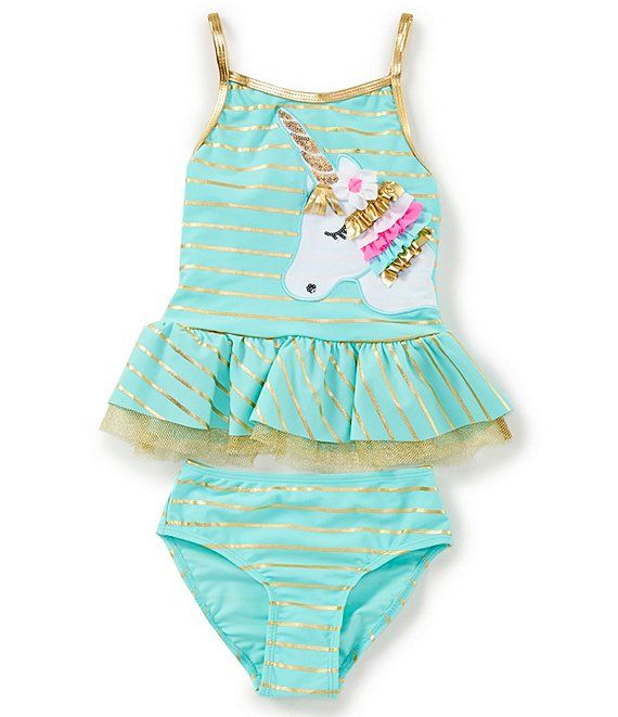 DSL Princess Swimsuit Toddler Girls Bathing Suits Two Pieces Bikini for Gift Birthday Holiday