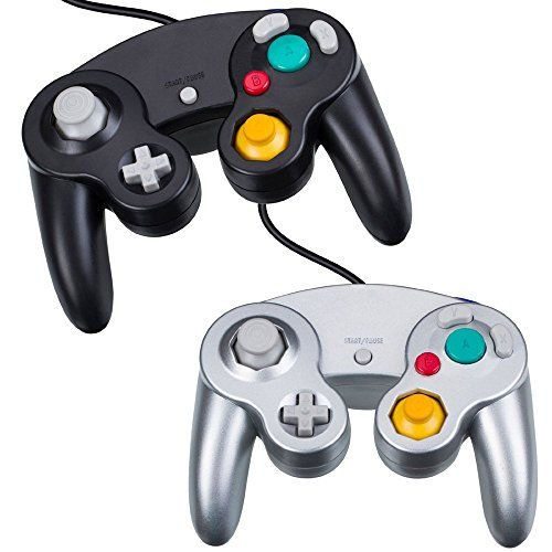 HOTSO Wired Game Controller for Nintendo GameCube or Wii Set of 2 (Black and Silver)  http://gamegearbuzz.com/hotso-wired-game-controller-for-nintendo-gamecube-or-wii-set-of-2-black-and-silver/