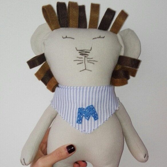 Customized lion plushie, the big lion in its little version safe for babies