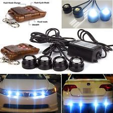 4in1 12V Hawkeye LED Car Emergency Strobe Lights DRL Wireless Remote Control Kit Now: $11.71.