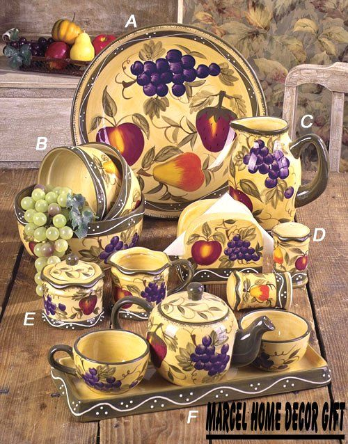 superior Fruit Themed Kitchen Decor #1: Image detail for -fruits canister dinnerware set a beautiful set from our  tuscany fruit .