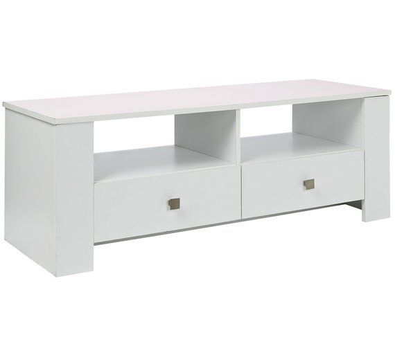 Buy HOME Hamilton 2 Drawer TV Unit - White at Argos.co.uk, visit Argos.co.uk to shop online for Entertainment units and cabinets, Living room furniture, Home and garden