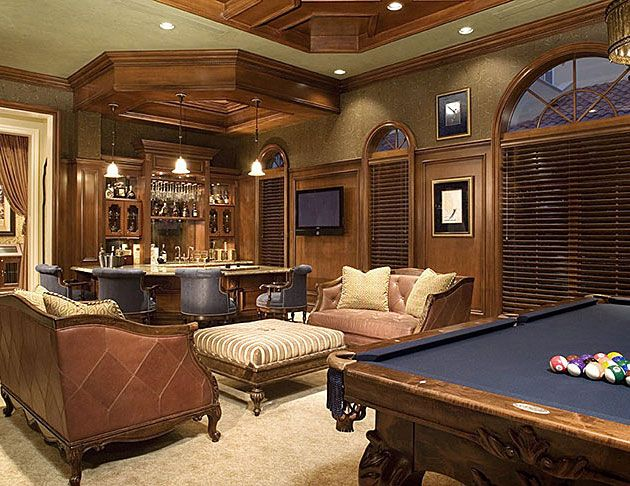 Residential   Projects   P Interiors · Basement Game RoomsBasement ...