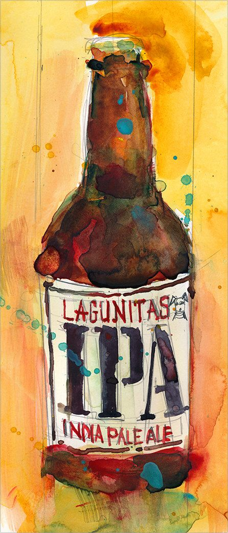 The first IPA I ever had. Everything else from Lagunitas is solid. I trust those guys. Watercolor by dfrdesign,