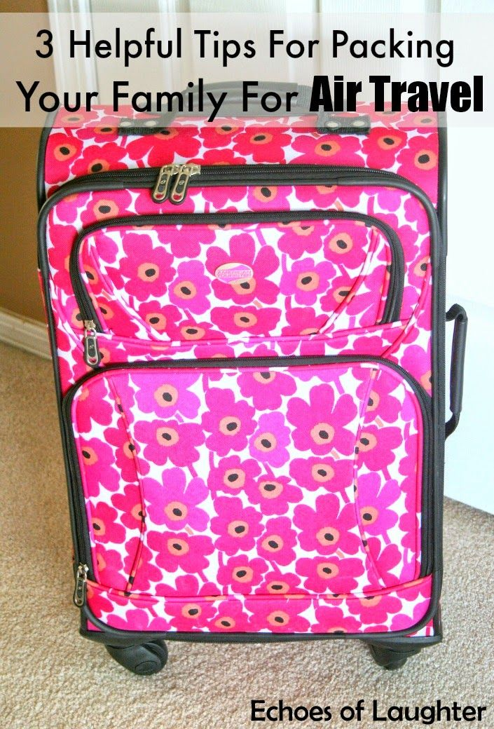 3 Helpful Tips For Packing Your Family For Air Travel This Summer-great tips for making travel thru security a breeze!