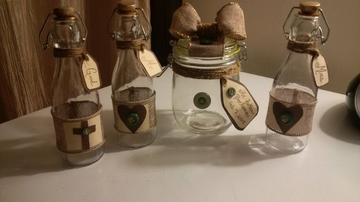 Little bottles I made with dollar store supplies for our wedding! #Wedding #SandCeremony #UnitySand #DIY