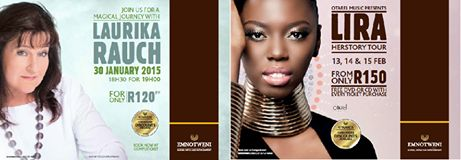 Guess who's coming to town! We welcome the haunting sounds of Laurika Rauch tomorrow night and then on the 14th February, we'll be blown away by the beautiful Lira. Both appearing at the Emnotweni Casino in Nelspruit. So if you're coming through to enjoy the show, contact us now to secure your accommodation.