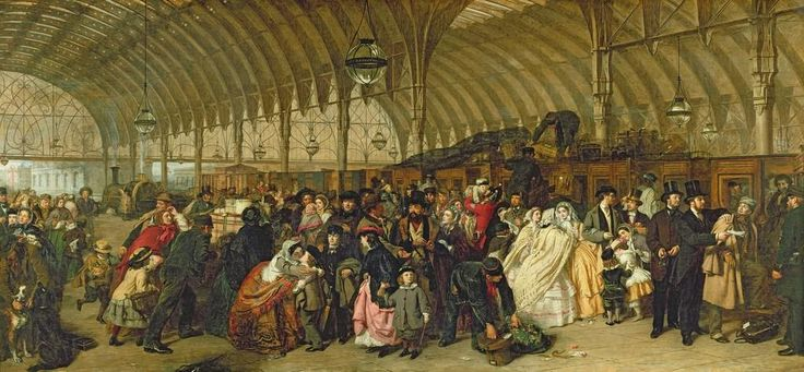 The Railway Station William Powell Frith, 1863, Victoria