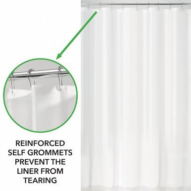 mDesign LONG PEVA Shower Curtain Liner for Bath, 72″ x 84″, Arctic Blue  – Products