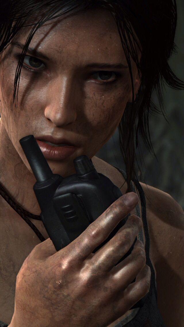 Lara Croft voiced by Camilla Luddington