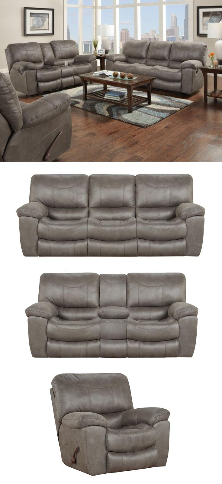 The T Reclining Sofa Boasts Sink In