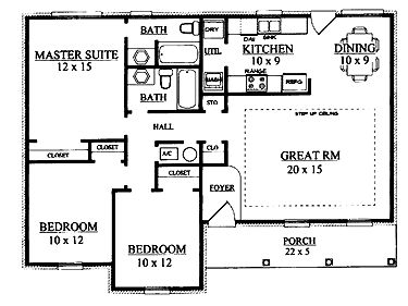 I really like this single level house. Only thing I would change is the kitchen and laundry. Make the small hall closet deep and put in stacking washer & dryer. Remaining laundry space would be pantry. Kitchen would be L shape. Sink in same spot, stove & fridge on laundry wall. Pantry door would have to be small, maybe a pocket door. Also add an island. I think this change would help the whole house flow better.
