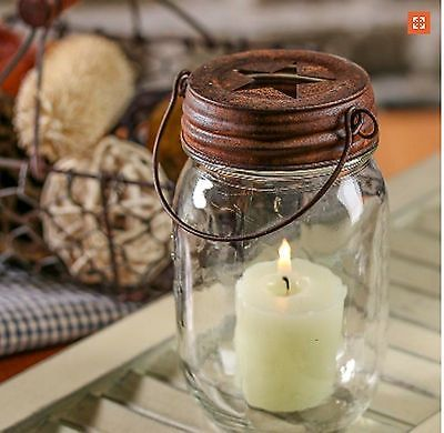Mason jar lantern plus more DIY projects to light up the garden at night! #spon #garden #candles