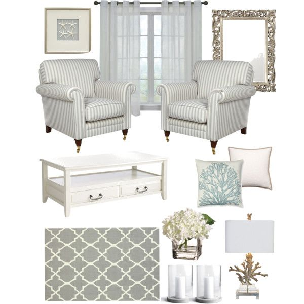 """Elegant Coastal"" by Hamptons Style- love for a beach house!"