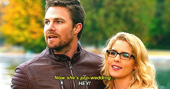 Oliver and Felicity in Crisis on Earth-X.