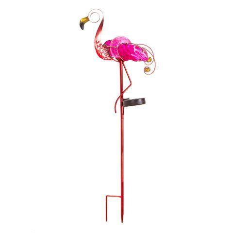 Thepinkflamingo Online Flamingo Solar Stake