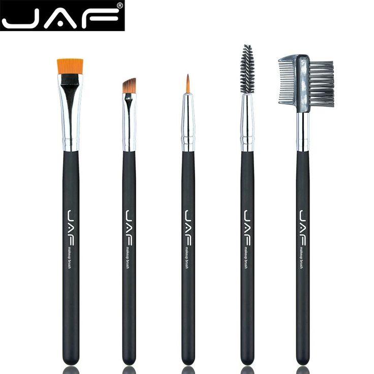 Retail JAF 100% Vegan Eye Makeup Cosmetic Brush Set for Eyeliner Eyebrow Eyelash Syenthetic Hair Brush Comb JE0501S-B Vegan