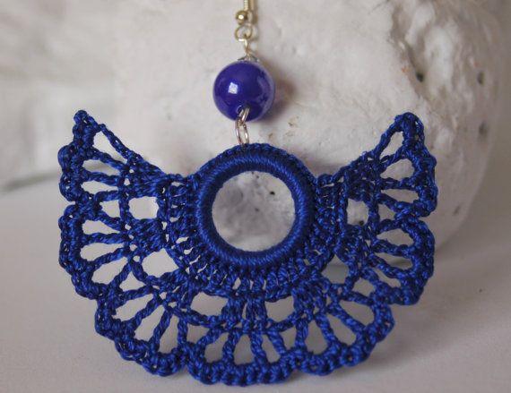 Crochet earrings  Large crochet earrings  Crochet by lindapaula, €11.00