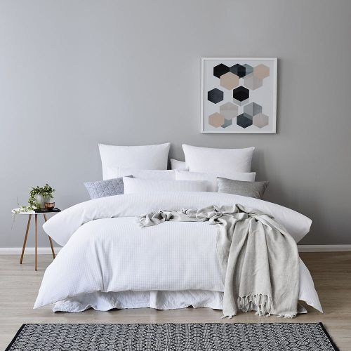 Mercer + Reid Tribeca Quilt Cover Set, waffle bedlinen. With both options a white doona set works best. I like waffle as it give another layer of texture