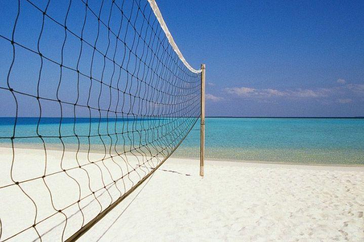 play beach volley,enjoy the sun!