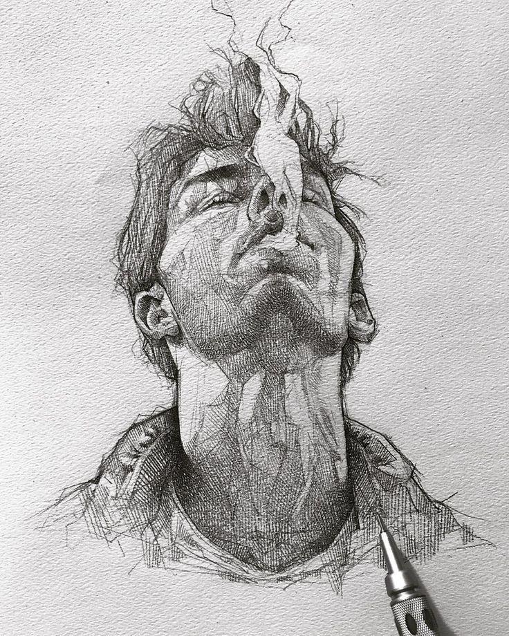 Portrait Art Time Travel Zeichnungen, Zeichnungen Ideen, Zeichnungen einfach, Zeichnungen Menschen, d …