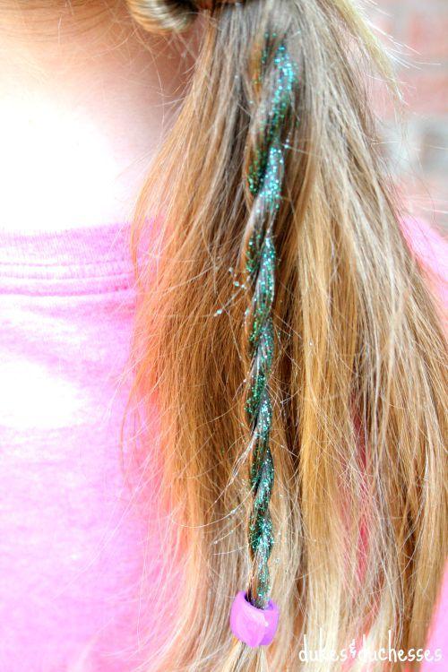 DIY glitter hair spray