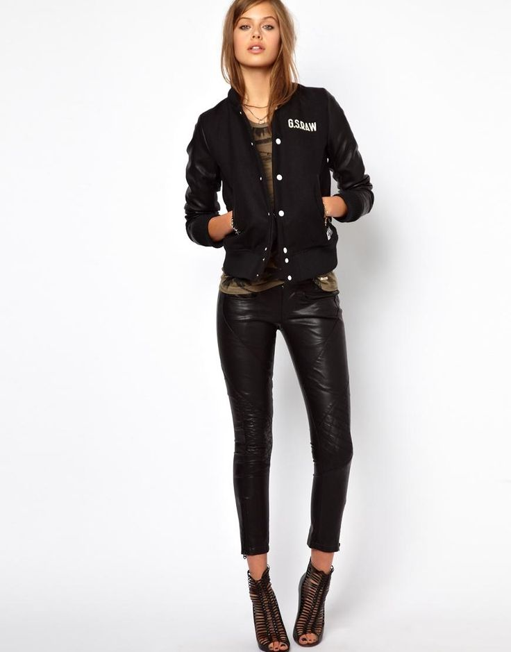G-Star | G-Star New Radar Skinny Faux Leather Trousers at ASOS
