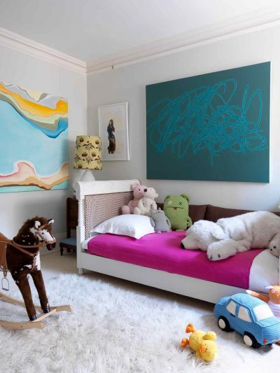 Children's Eclectic room by Katie Lydon Interiors featuring Heat Wave by Ann Sophie Staerk. You can purchase this piece on our sister site GreenBox Art + Culture