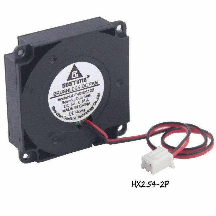 [ 17% Off ] 1 Pcs Gdstime 3D Printer Dual Ball Bearing 5V Fan 40x40x10mm Blower Fan 40mm Small Cooler DC Brushless Cooling Fan 5 Volt 2Pin