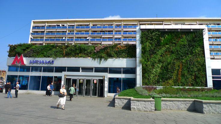 Avlabari Station, Tbilisi, Georgia   Vertical Garden Patrick Blanc