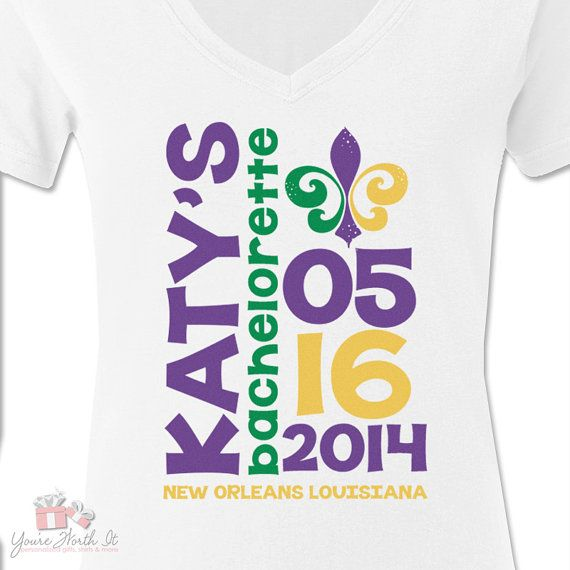 Bachelorette party shirts mardi gras new orleans nola for Shirt printing new orleans