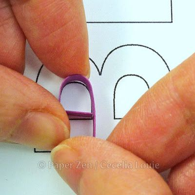 how to quill quilling letters typography monogram                                                                                                                                                     More