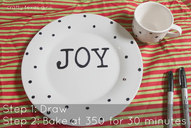 CONFESSIONS OF A PLATE ADDICT: Cowgirl Up! Christmas in July...Sharpie Plates