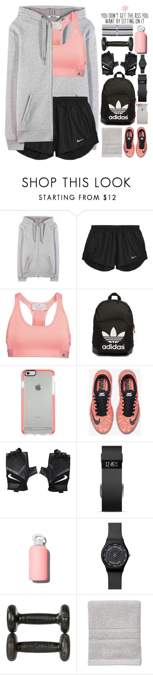"""#805 Fitness."" by giulls1 ❤ liked on Polyvore featuring T By Alexander Wang, NIKE, adidas, adidas Originals, Fitbit, bkr, Sonoma life + style, Under Armour, women's clothing and women"